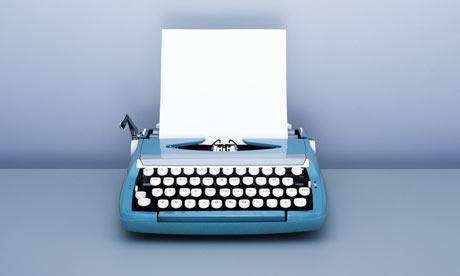 Blank Paper in Typewriter by Korjarie Matiessa