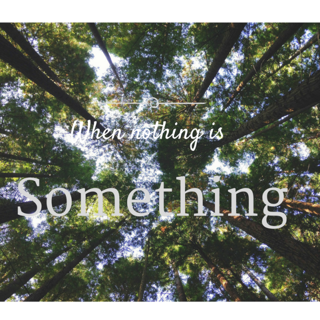 Copy of When nothing is something